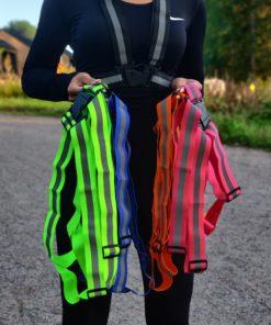 Heijastinvaljaat musta, vihreä, sininen, oranssi, pinkki