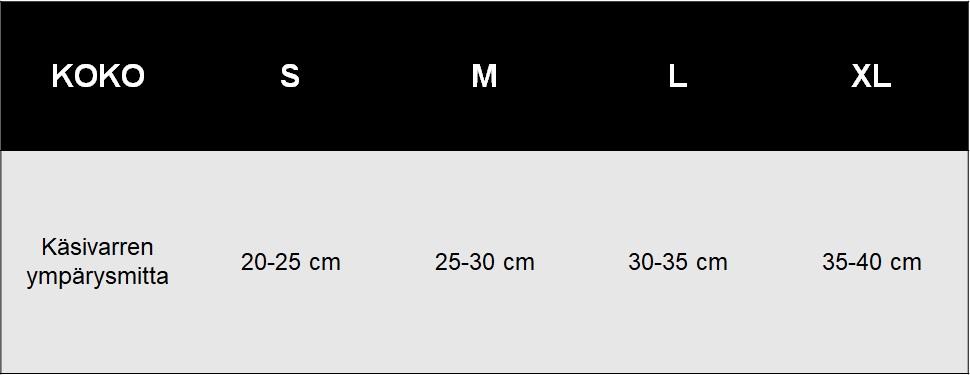 Kyynerpaatuki kompressiolla koko-opas - TarjousTaivas